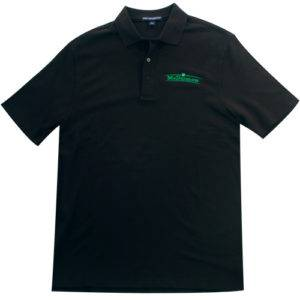 90-K800 Port Authority Traditional Black Polo