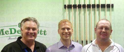 Peter Sharp Cue Creator, McDermott Cues总裁 Greg Knight, Cue Creator首席执行官Mike Sharp