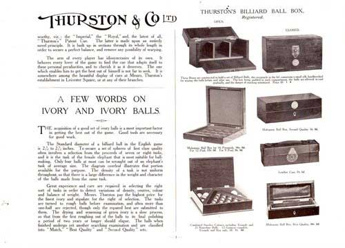 thurstons snooker image on billiard balls