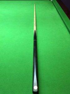 cc335 three quarter snooker cue plain ebony